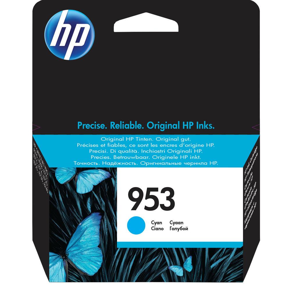 HP 953 Cyan Ink Cartridge - F6U12AEBGX