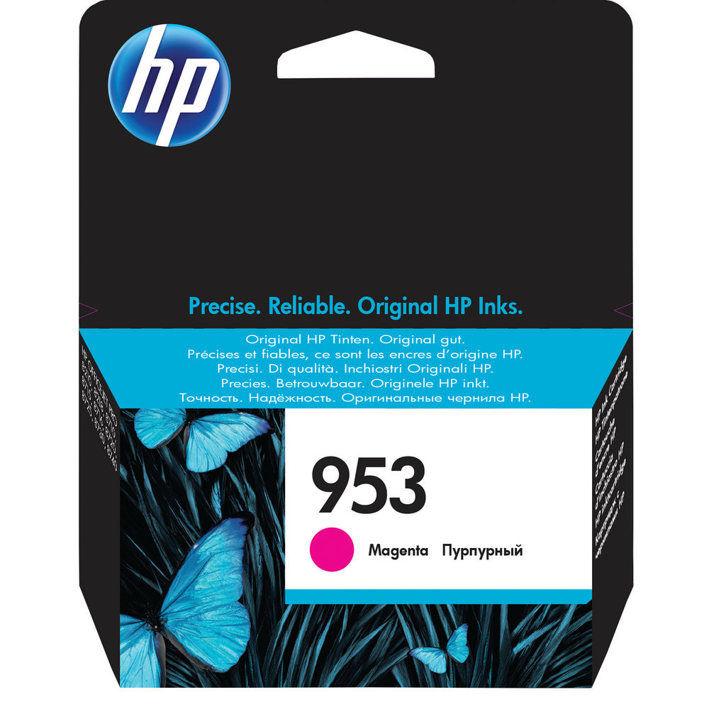HP 953 Magenta Ink Cartridge - F6U13AE#BGX