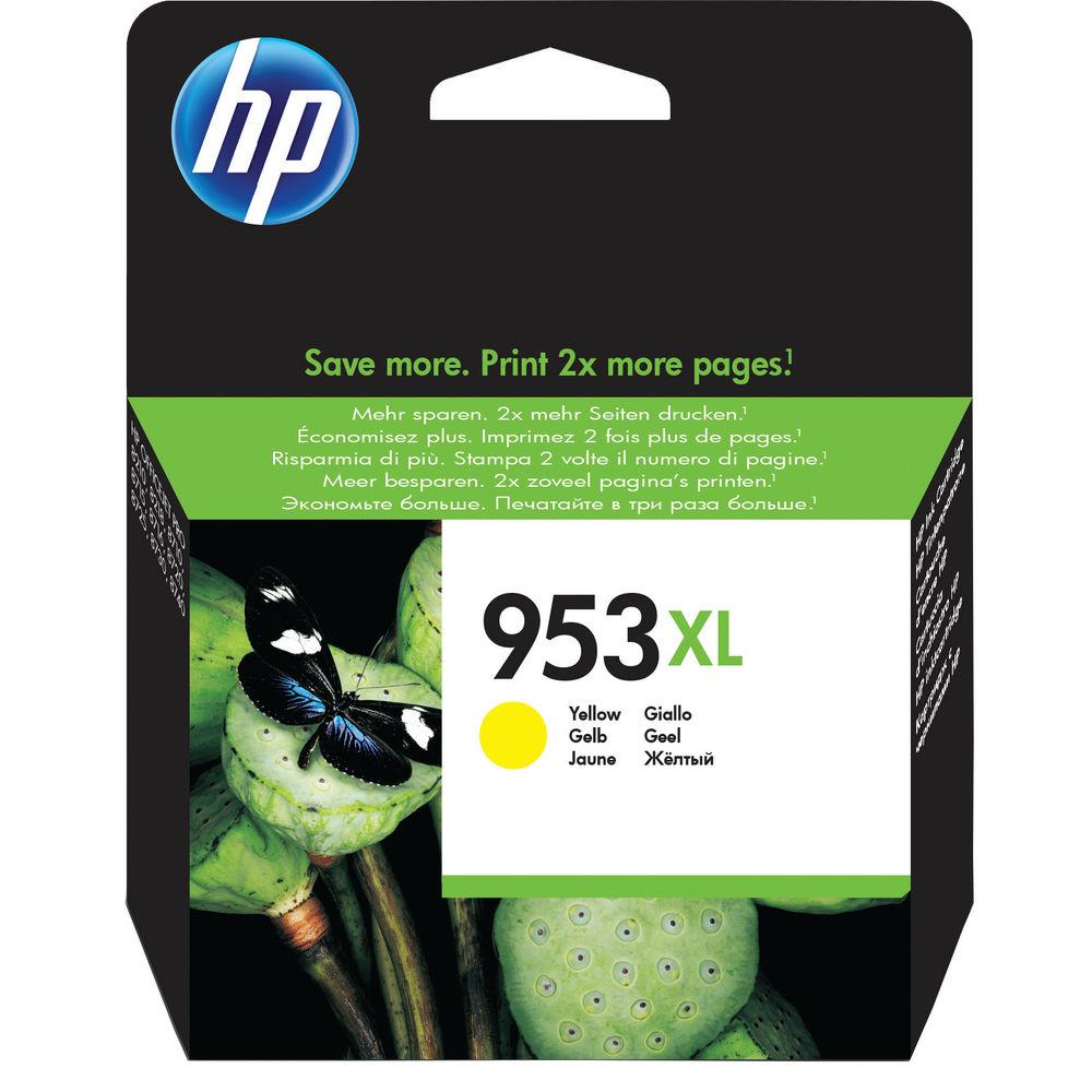 HP 953XL High Capacity Yellow Ink Cartridge - F6U18AE