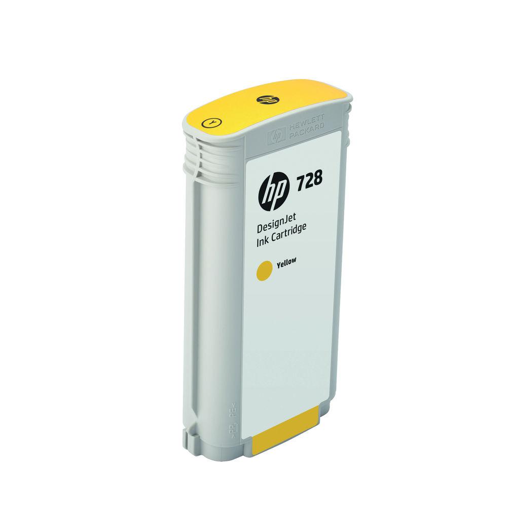 HP 728 Yellow Ink Cartridge - High Capacity F9J65A