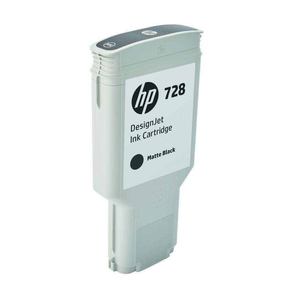 HP 728 Matte Black Ink Cartridge - High Capacity F9J68A