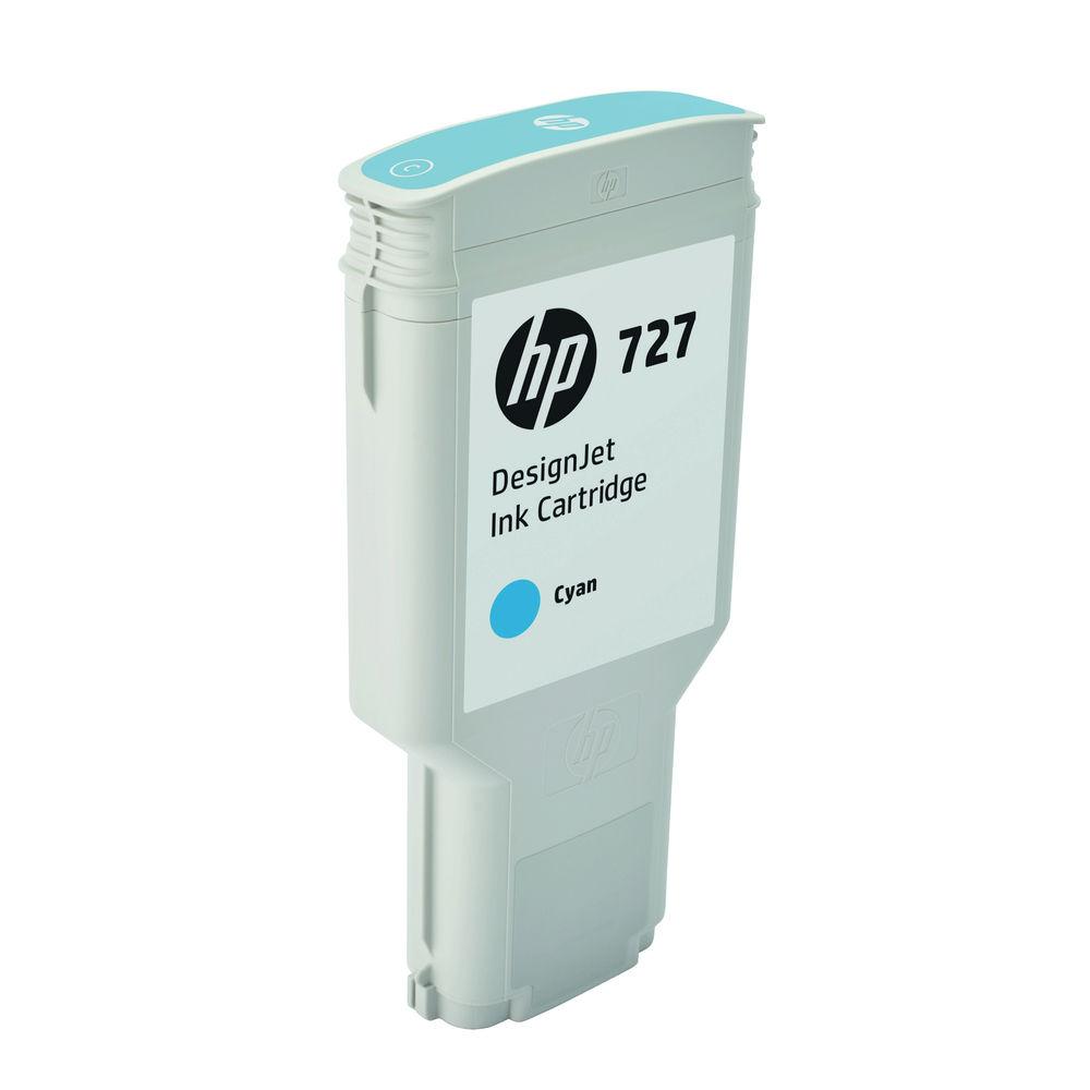 HP 727 Extra High Capacity Cyan Ink Cartridge - F9J76A