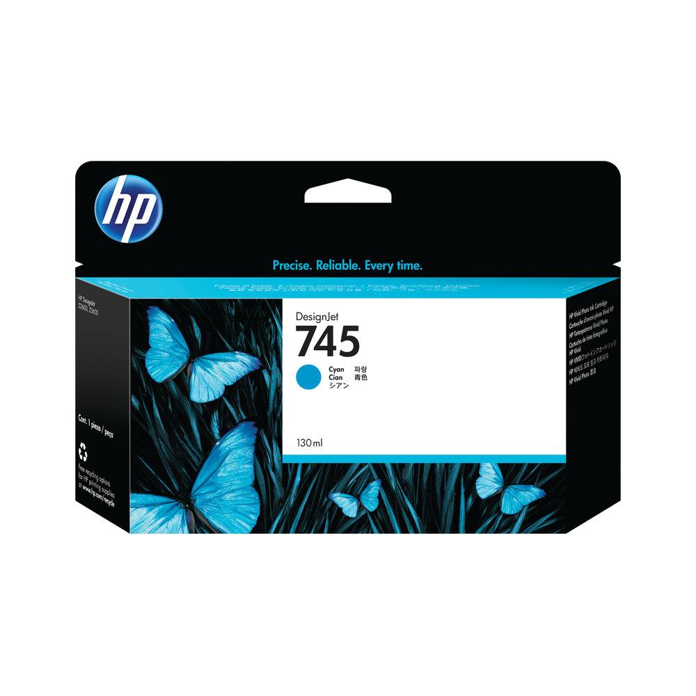 HP 745 Cyan Ink Cartridge - F9J97A