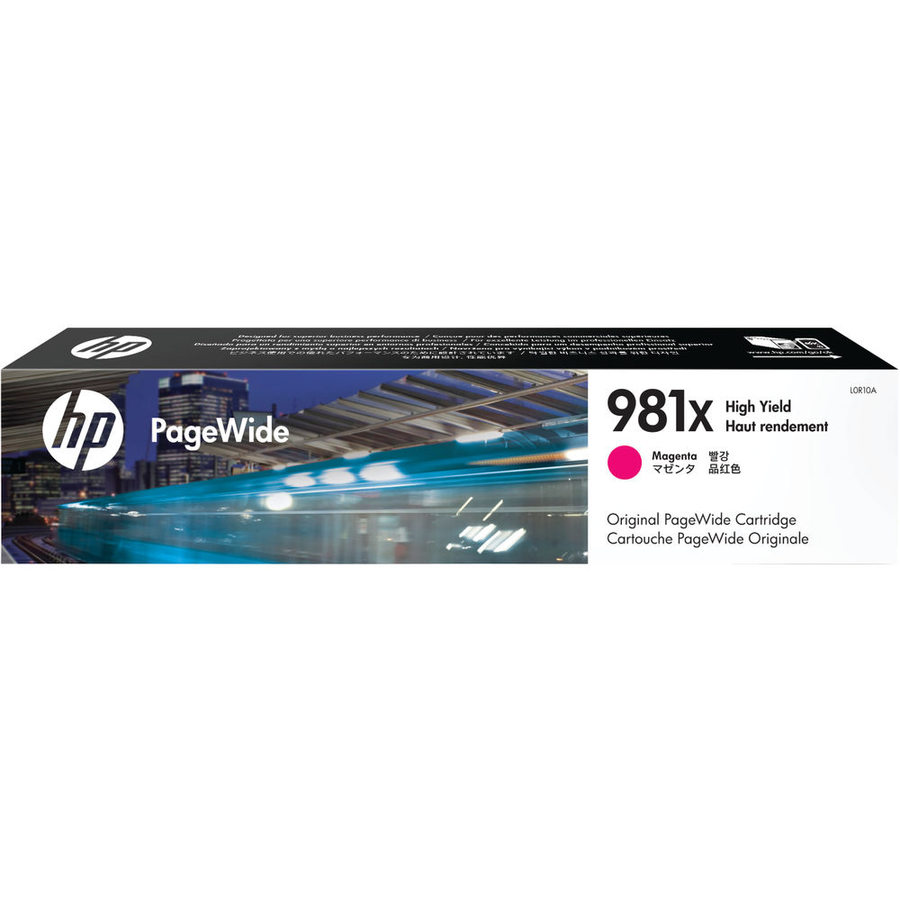 HP 981 XL PageWide Magenta Ink Cartridge - High Capacity L0R10A