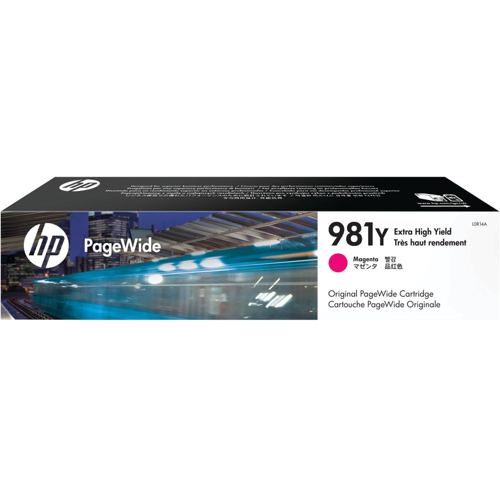 HP 981Y Extra High Yield PageWide Ink Magenta Cartridge L0R14A