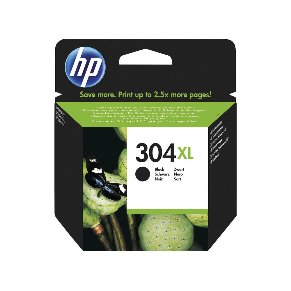 HP 304XL High Capacity Black Ink Cartridge | N9K08AE