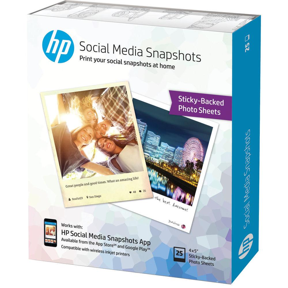 HP 10 x 13cm Social Media Snapshots, Pack of 25 - W2G60A