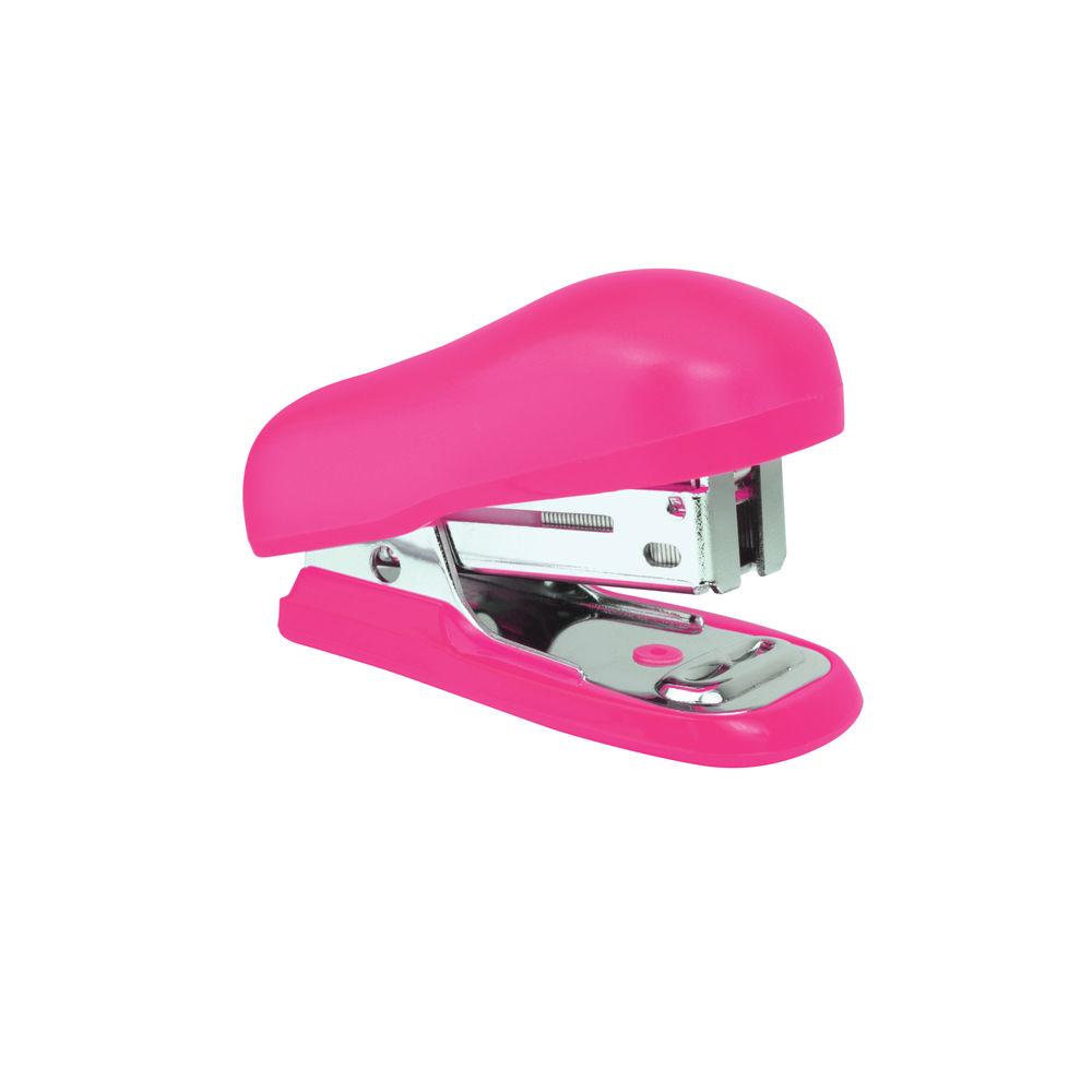 Rapesco Hot Pink Bug Mini Stapler Blister, Pack of 12 - 1412