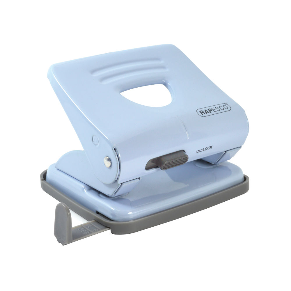 Rapesco Powder Blue 825 Metal 2 Hole Punch - 1359