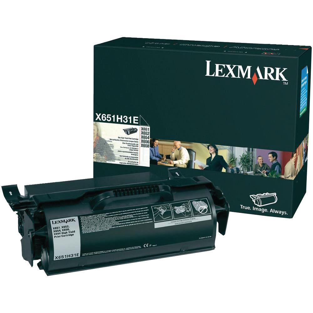 Lexmark Black Return Programme Toner Cartridge X651H31E