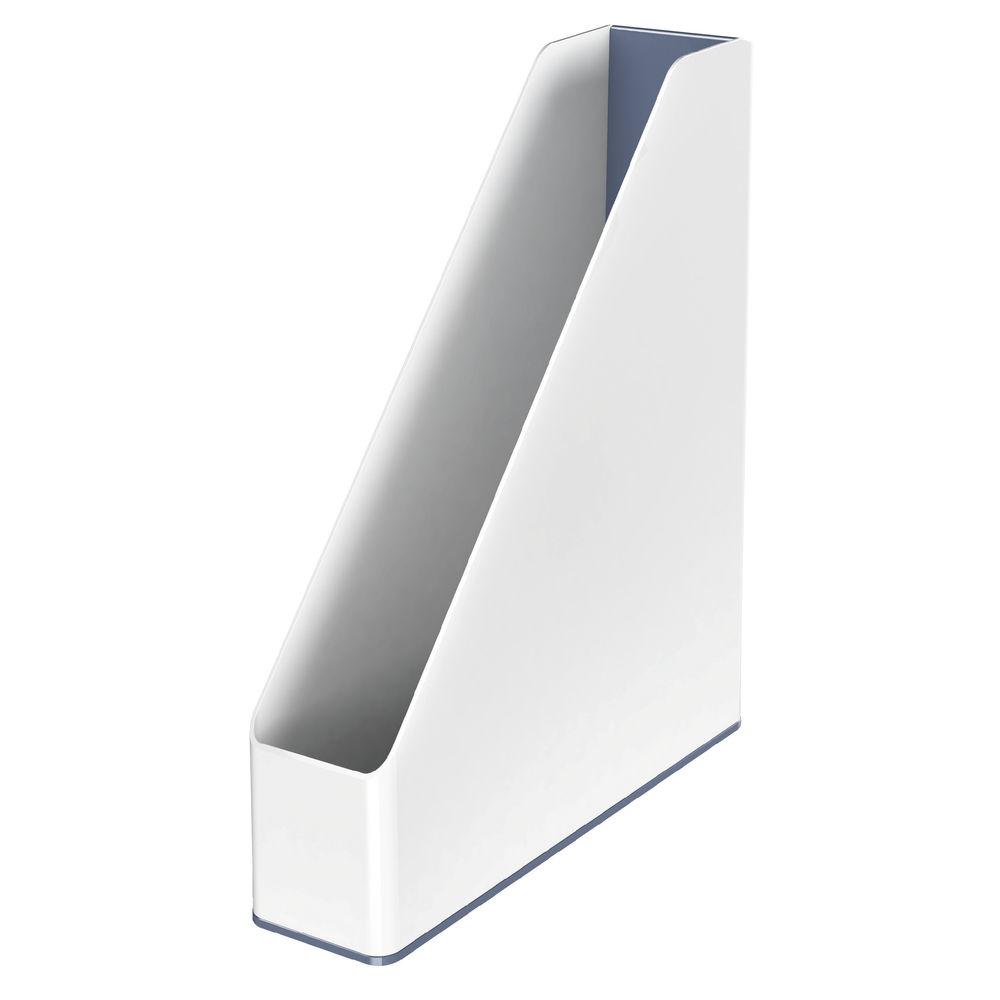 Leitz WOW White/Grey Dual Colour Magazine File 73mm - 53621001
