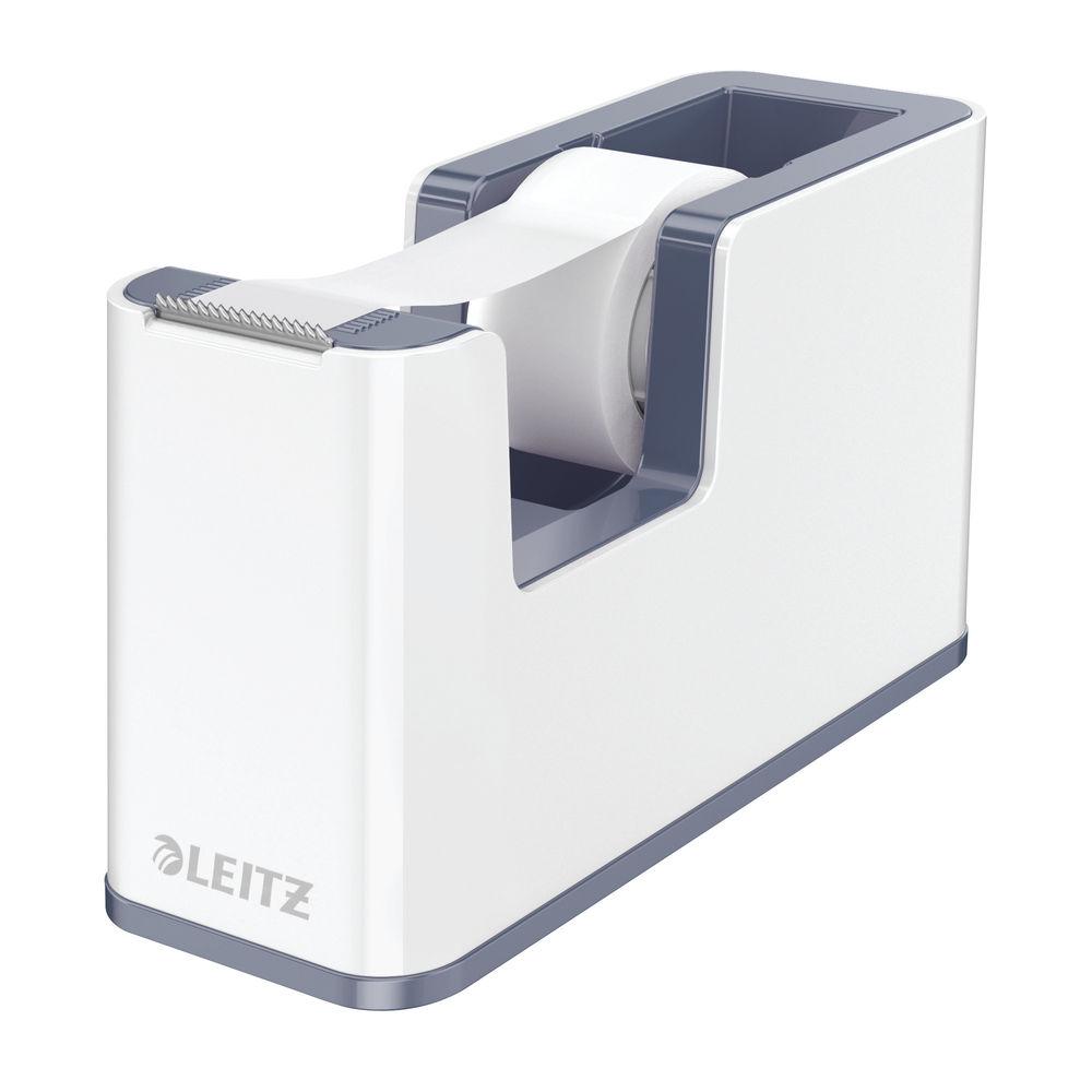 Leitz WOW Tape Dispenser Dual Colour White/Grey 53641001