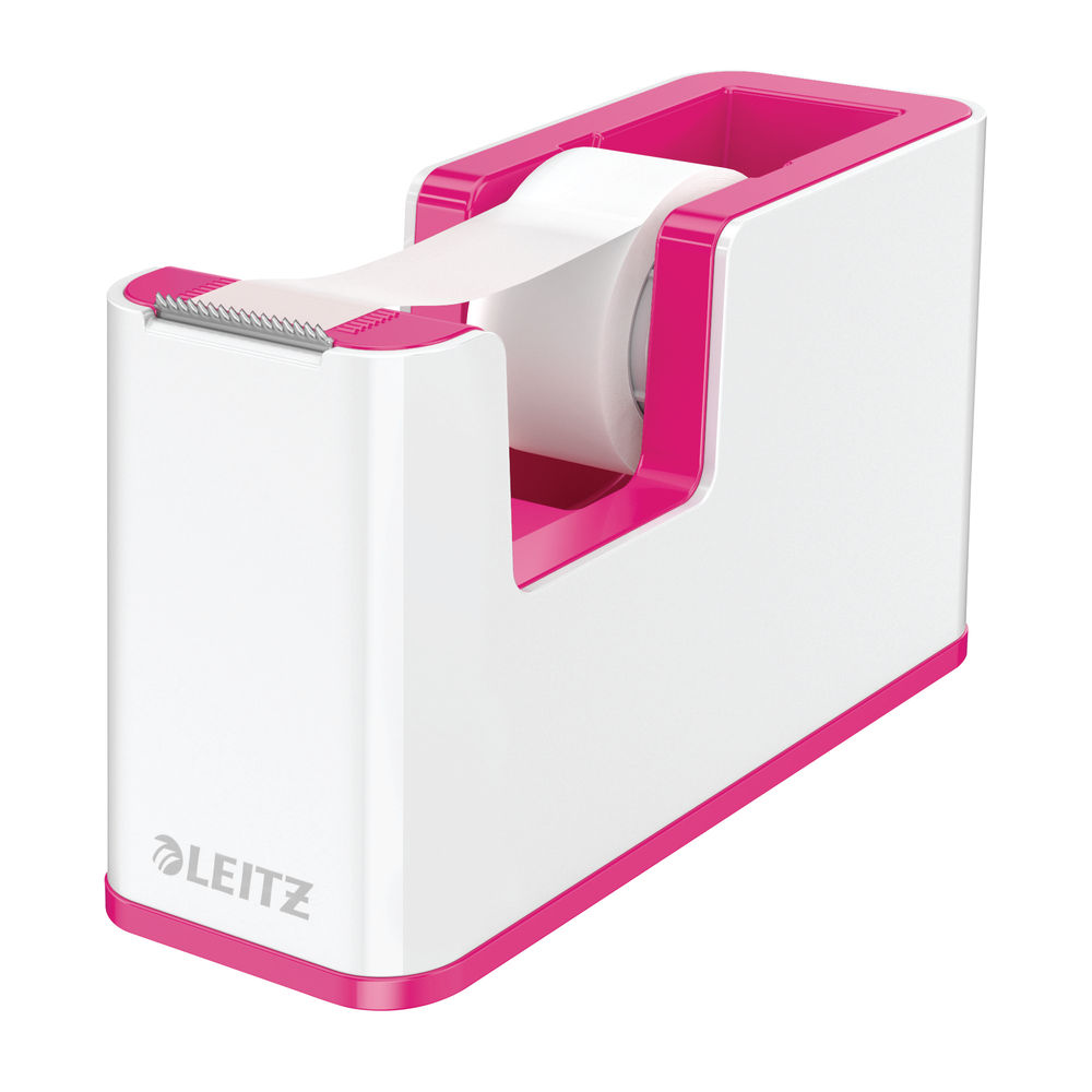 Leitz WOW White-Pink Tape Dispenser - 53641023