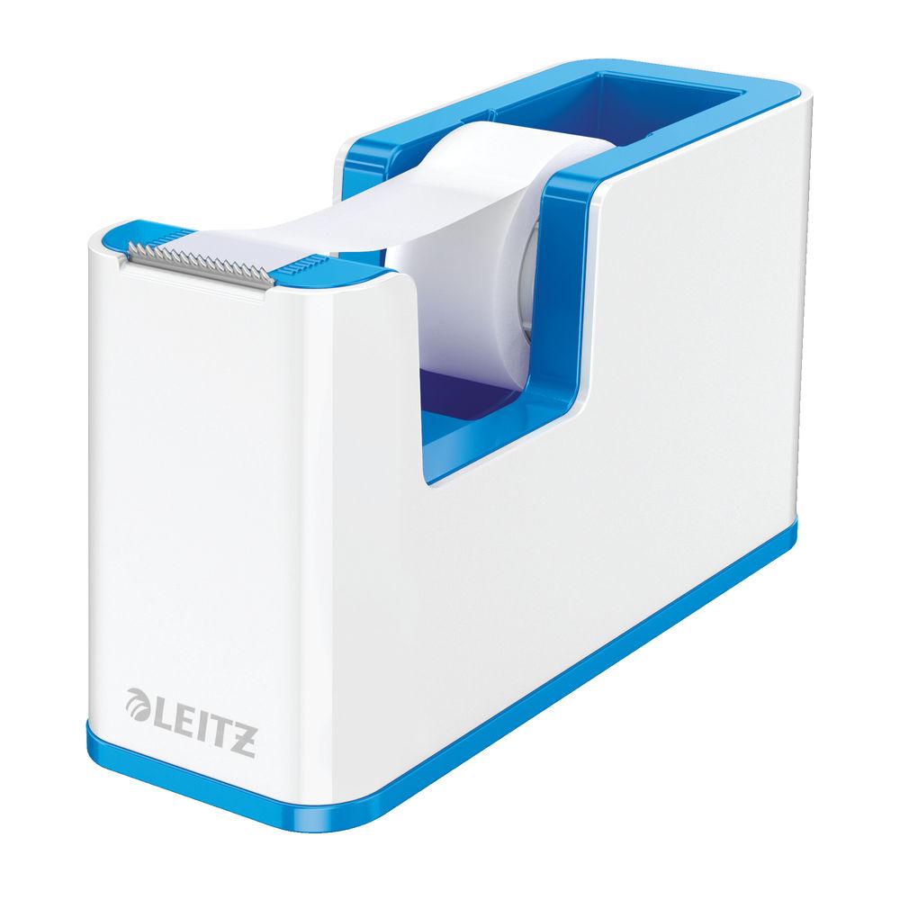 Leitz WOW Tape Dispenser Dual Colour White/Blue 53641036