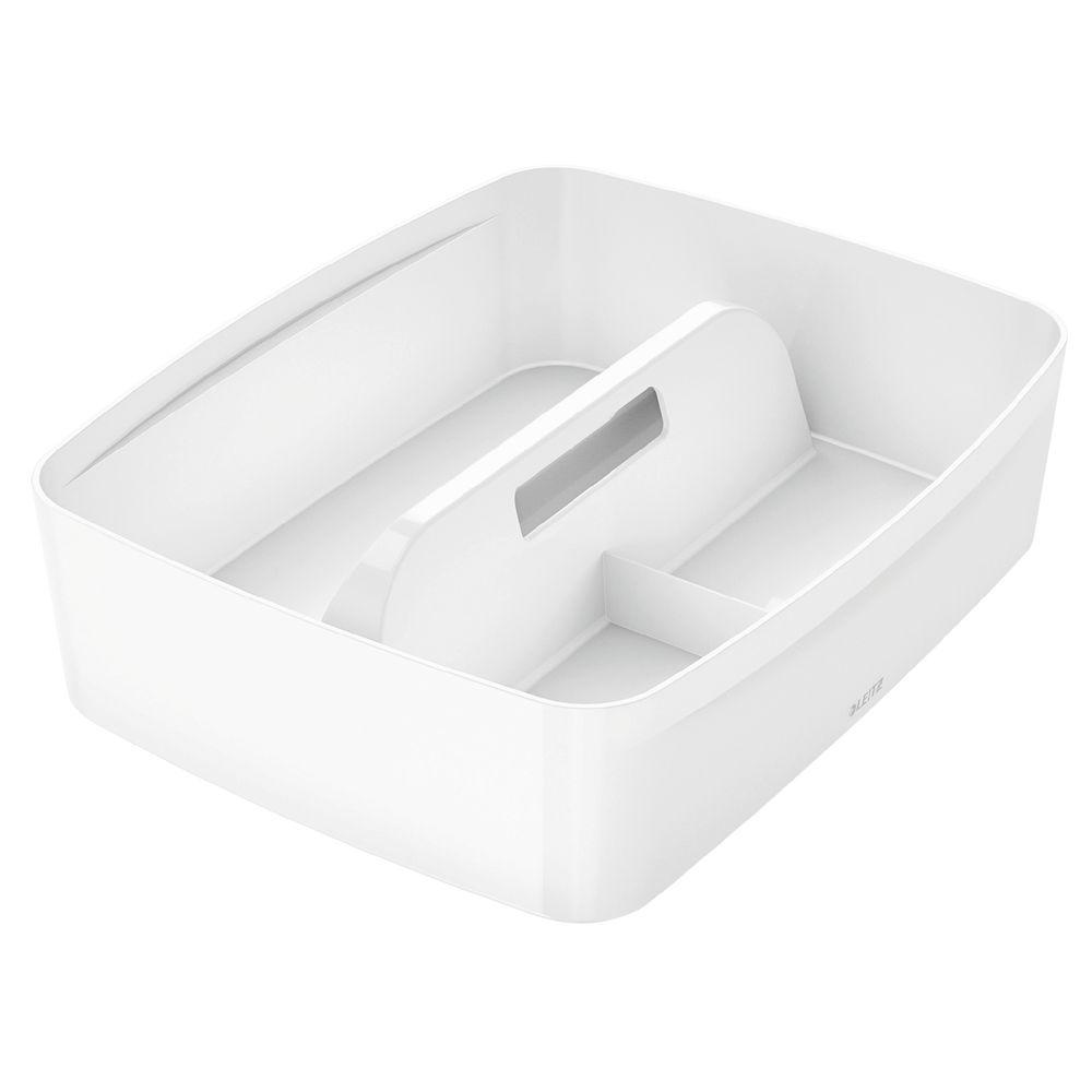 Leitz MyBox Large Organiser Tray With Handle White - 53220001