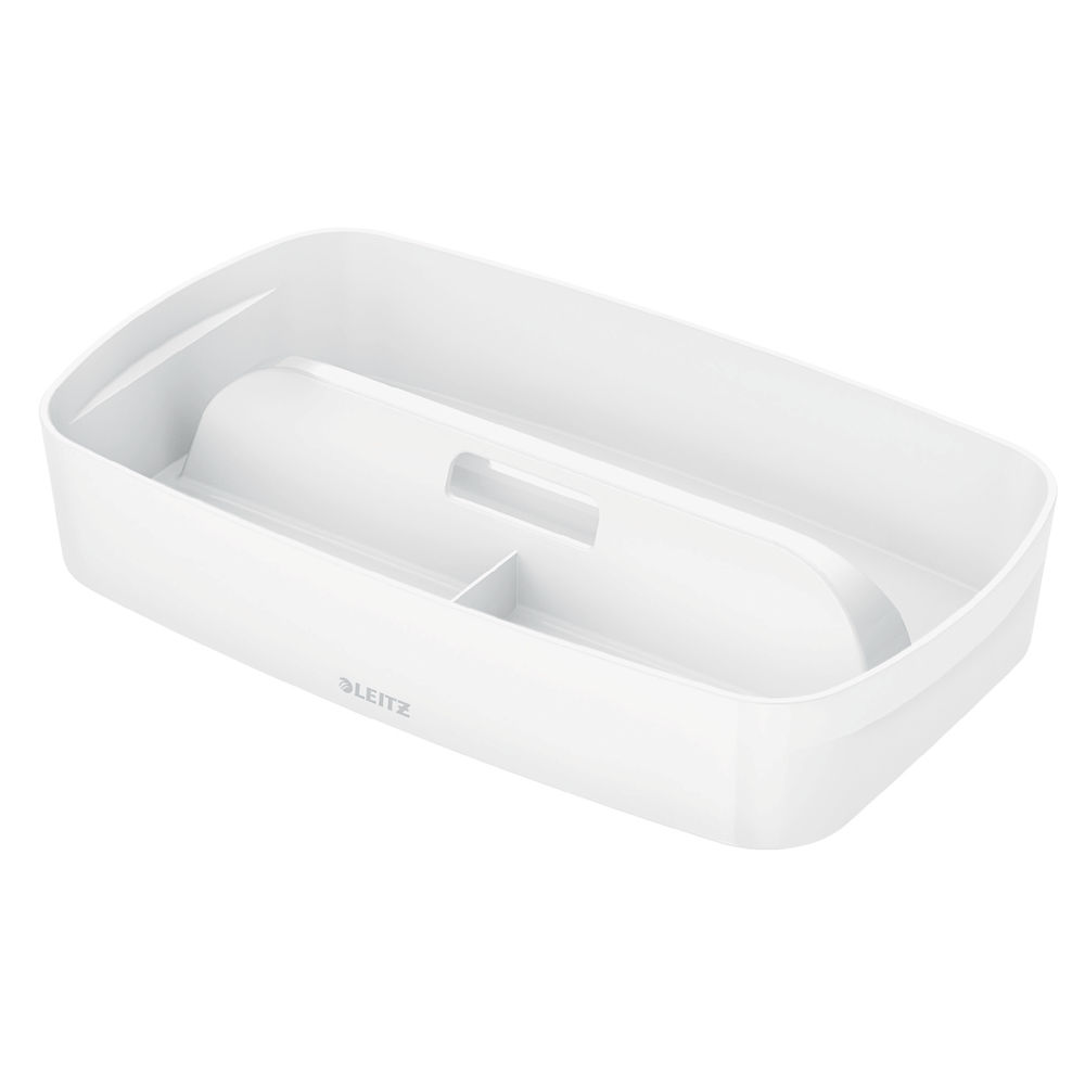 Leitz MyBox Organiser Tray with Handle Small White - 53230001