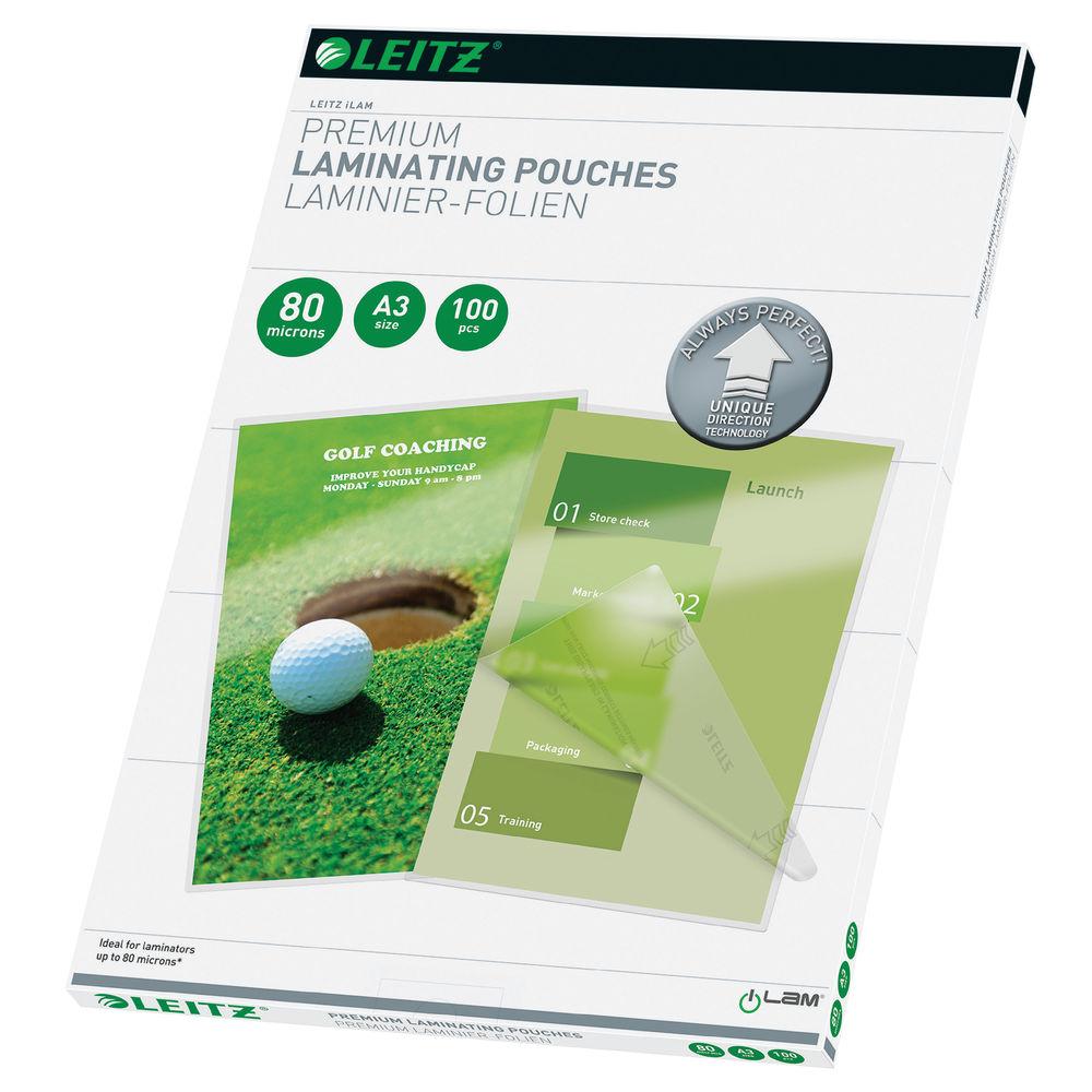 Leitz A3 iLAM Premium Laminating Pouches, Pack of 100 -74850000