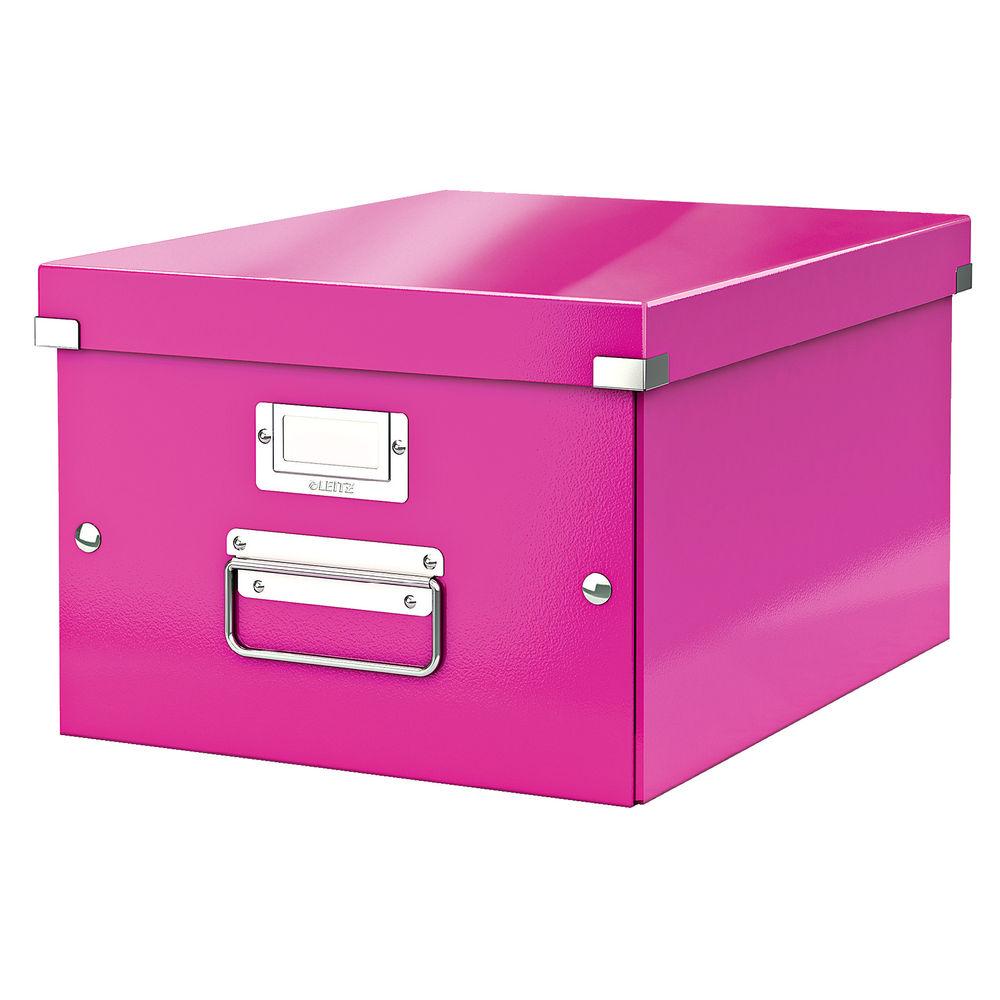 Leitz Click and Store Pink Medium Storage Box - 60440023