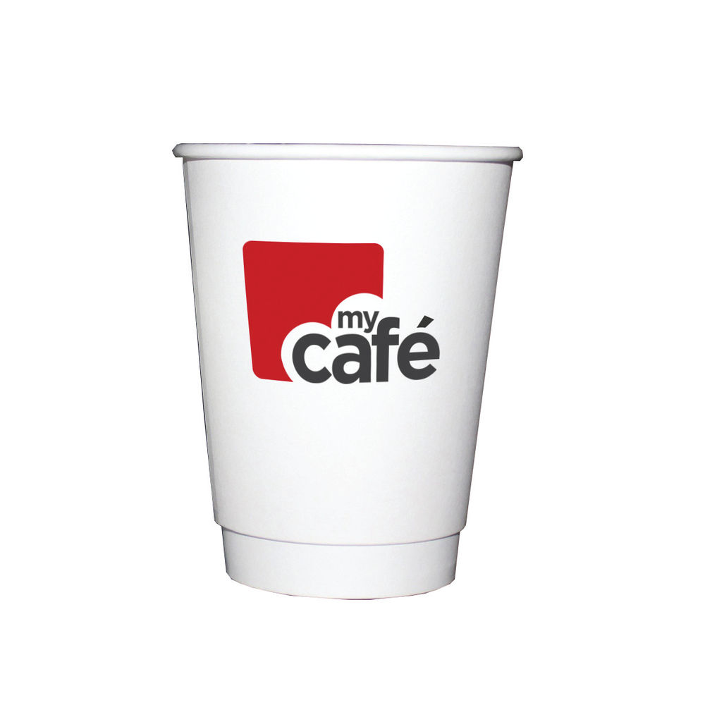 Mycafe 12oz Double Wall Hot Cups (Pack of 500) HVDWPA12V