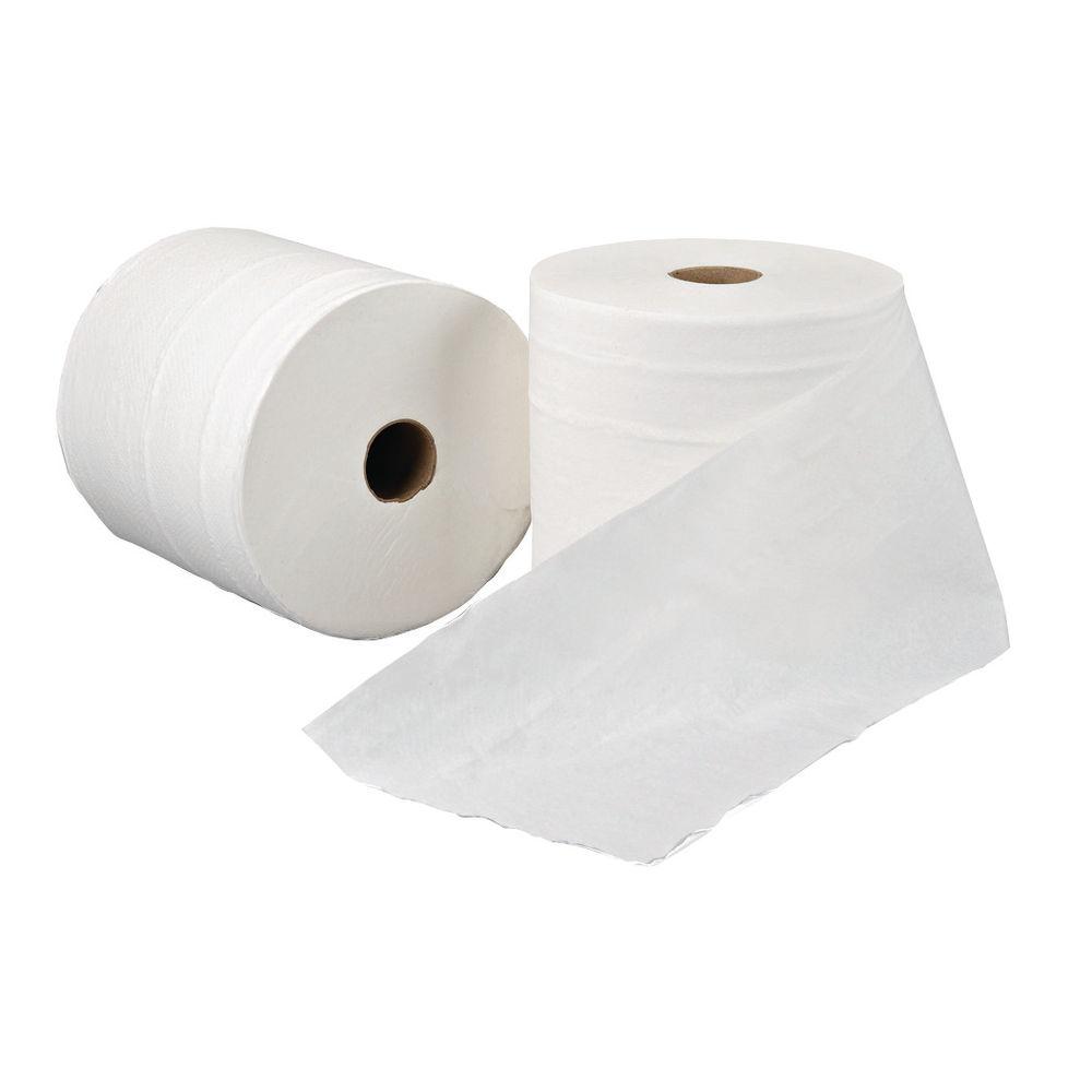 Leonardo White 1-Ply Hand Towel Rolls, Pack of 6 - RTW200DS