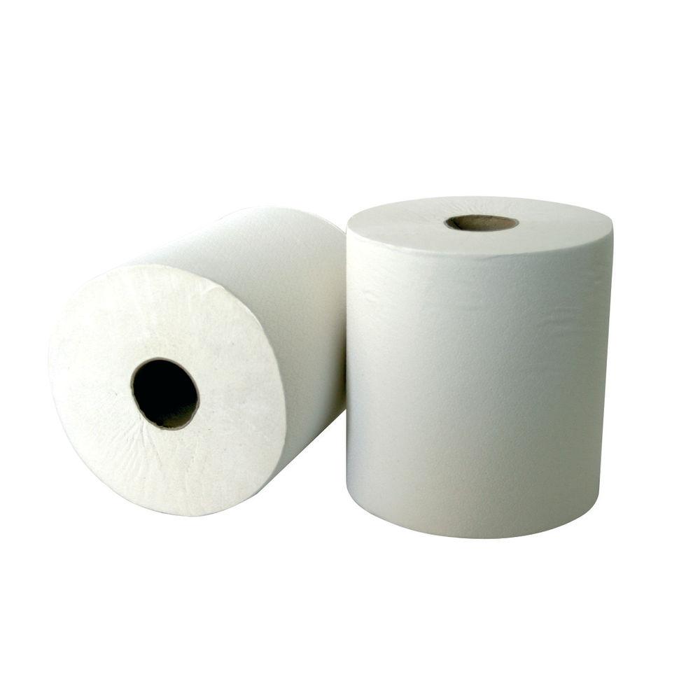 Leonardo White 2-Ply Laminated Hand Towel Rolls, Pack of 6 - RTW175DS