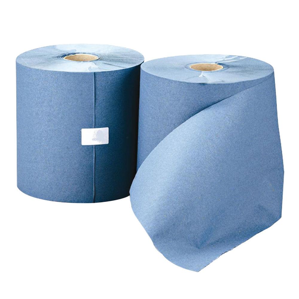 Leonardo Blue 1-Ply Hand Towel Rolls, Pack of 6 - RTB200DS