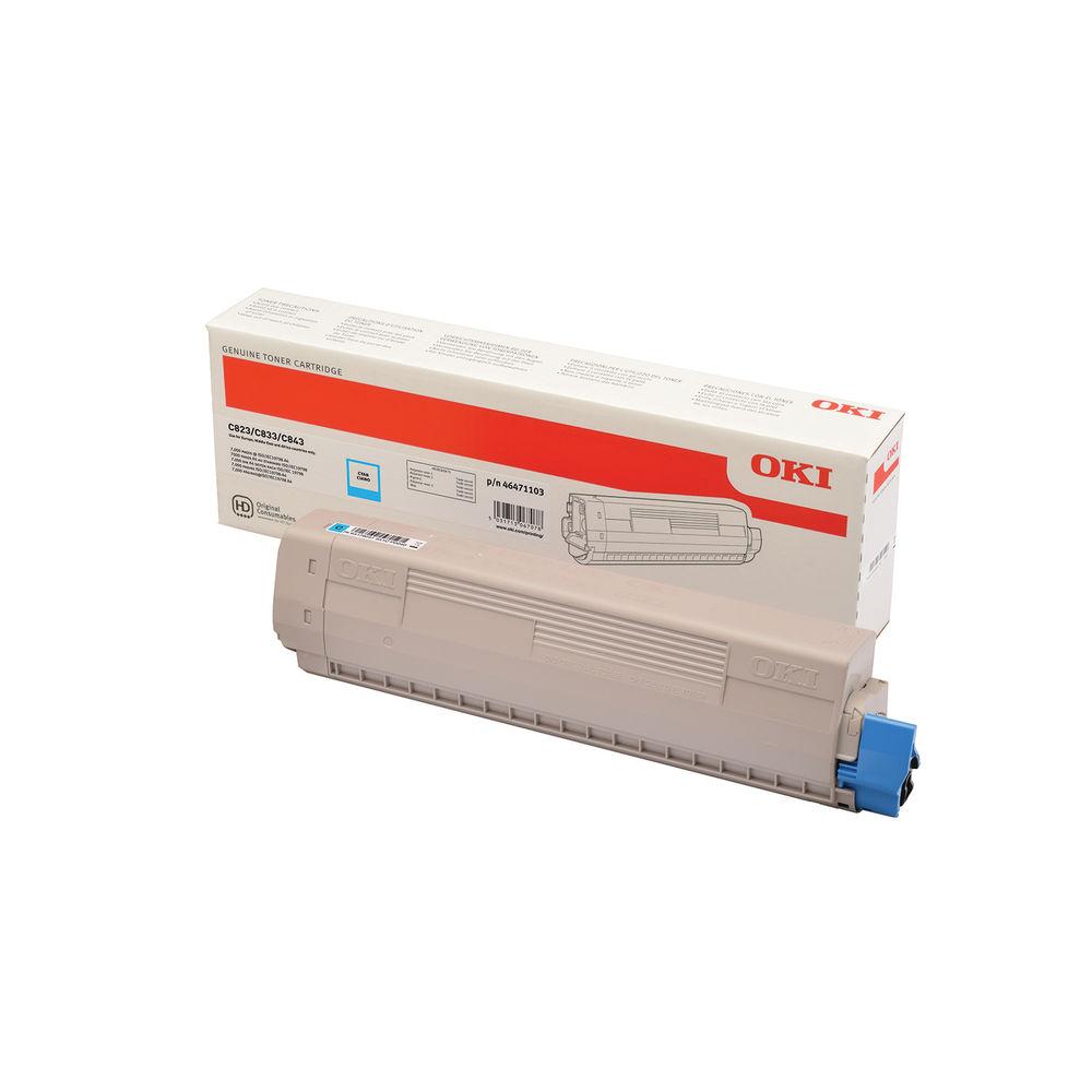 Oki C823 Cyan Toner Cartridge – 46471103