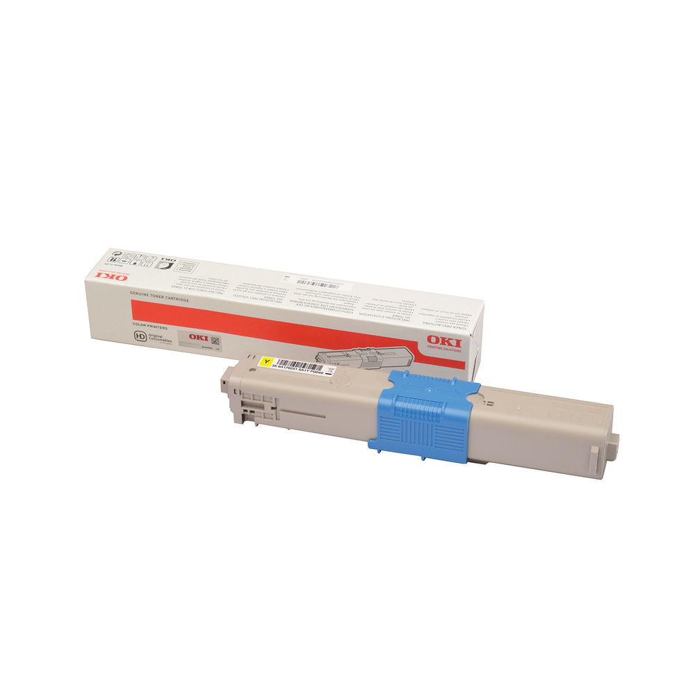 Oki C332 Yellow Toner Cartridge - High Capacity 46508709