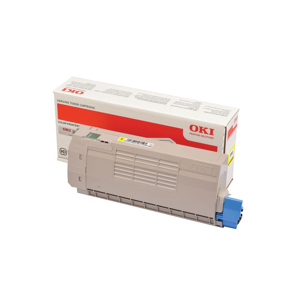 Oki C712 Yellow Laser Toner Cartridge (11,500 page yield) 46507613