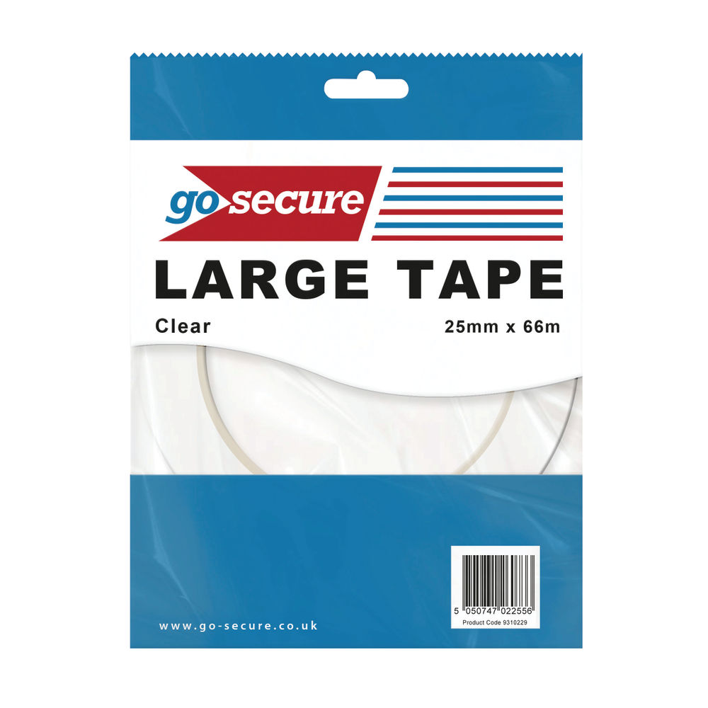 Go Secure Clear Large Tape, Pack of 24 - PB02299