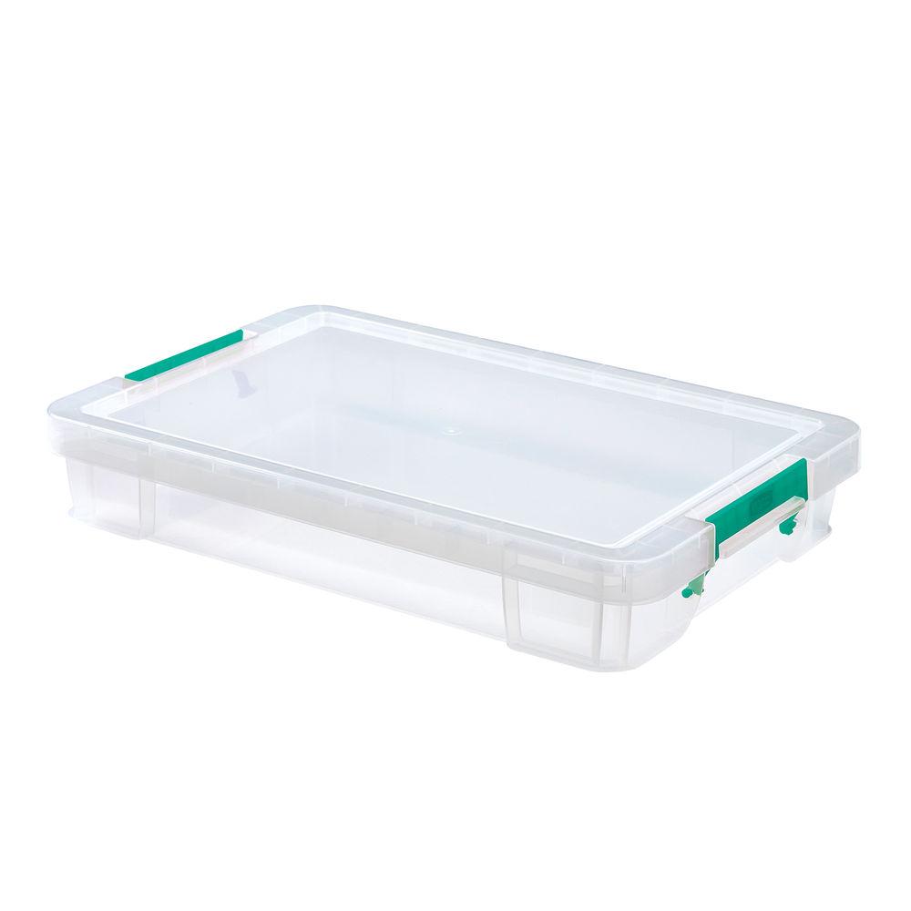 StoreStack 12 Litre Storage Box W550xD360xH90mm Clear RB75898
