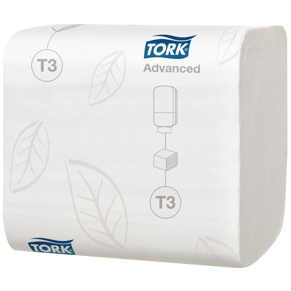 Tork T3 White Folded 2-Ply Toilet Tissues, Pack of 36 - 114271