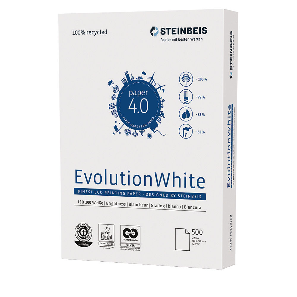 Steinbeis Evolution A3 White Paper, 80gsm, Pack of 2500 - K1701555080B