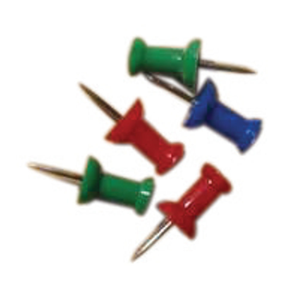 Basics Assorted Push Pins, Pack of 20 - 20371