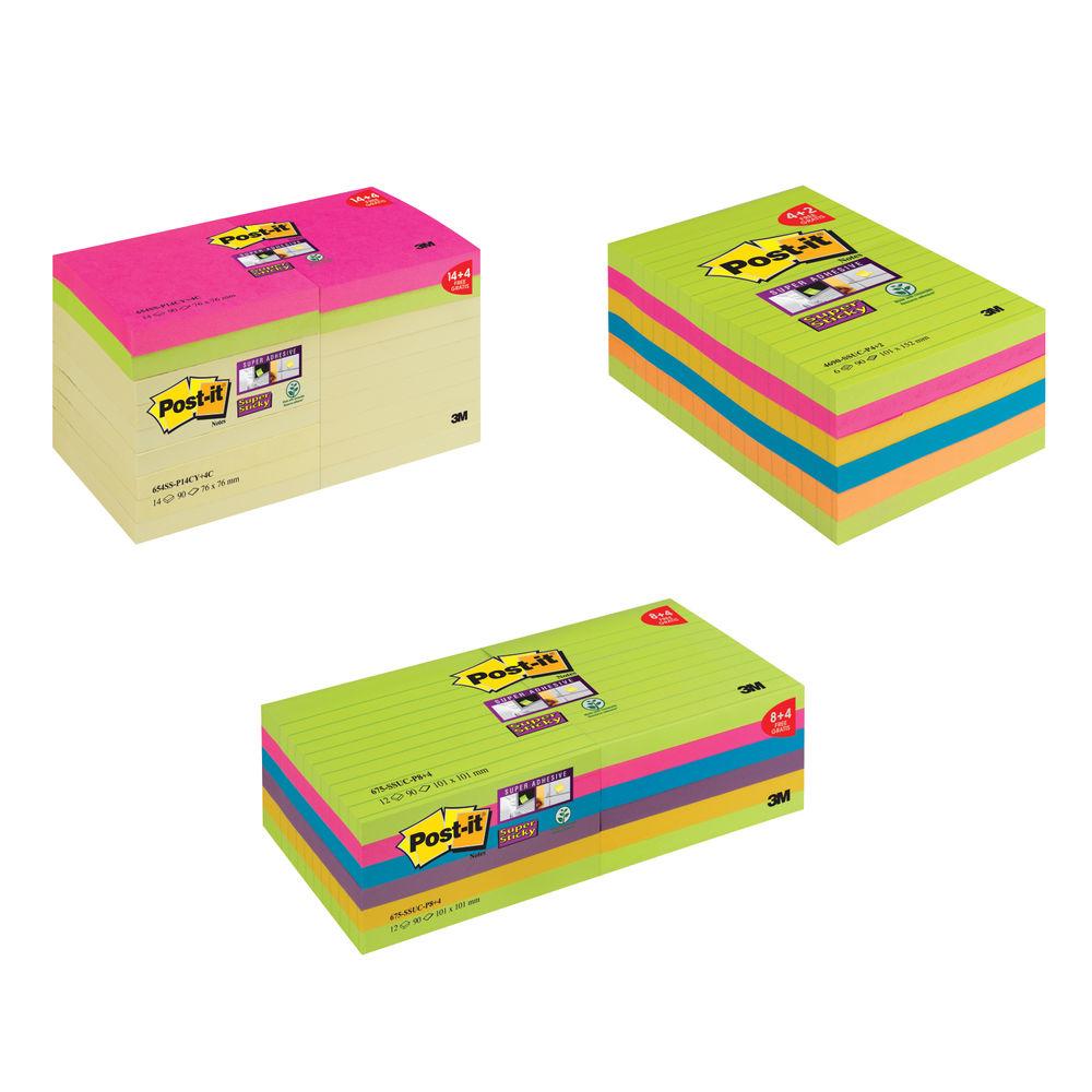 Post-it Super Sticky Bundle with Free Voucher 3M811288