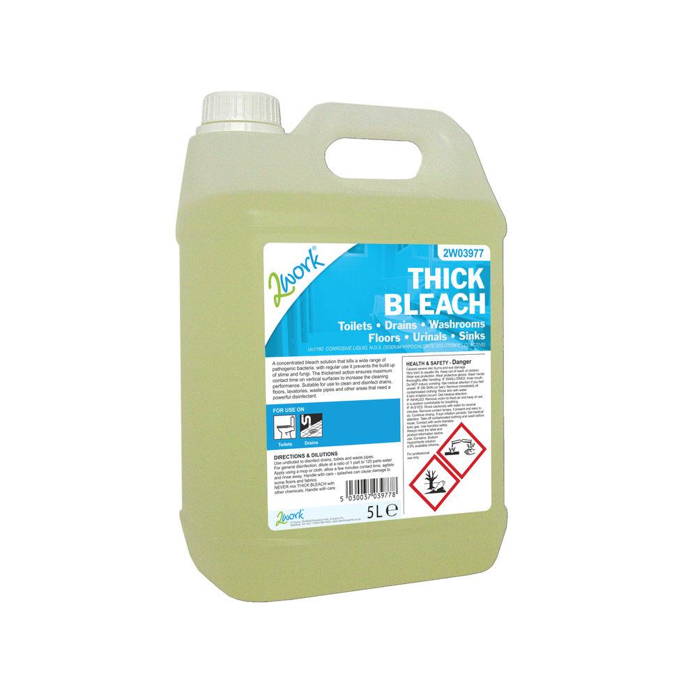 2Work Thick Bleach 5 Litre 2W03977