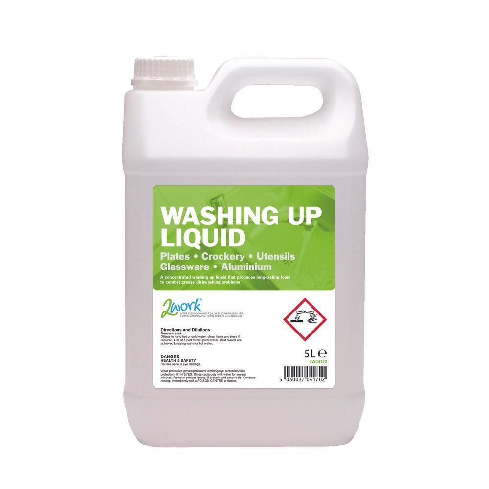 2Work Washing Up Liquid Lemon 5 Litre - 432
