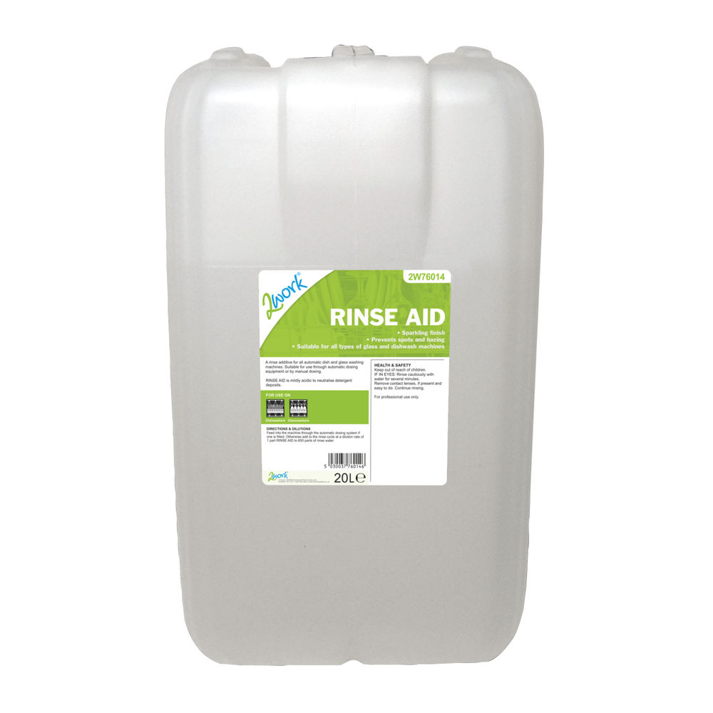2Work Rinse Aid 20 Litre - 451OSN