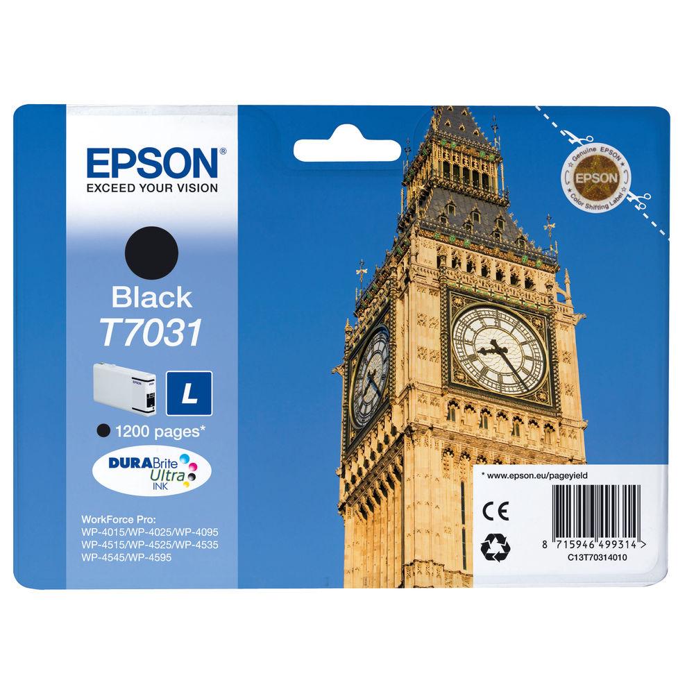 Epson T7031 Black Ink Cartridge - C13T70314010