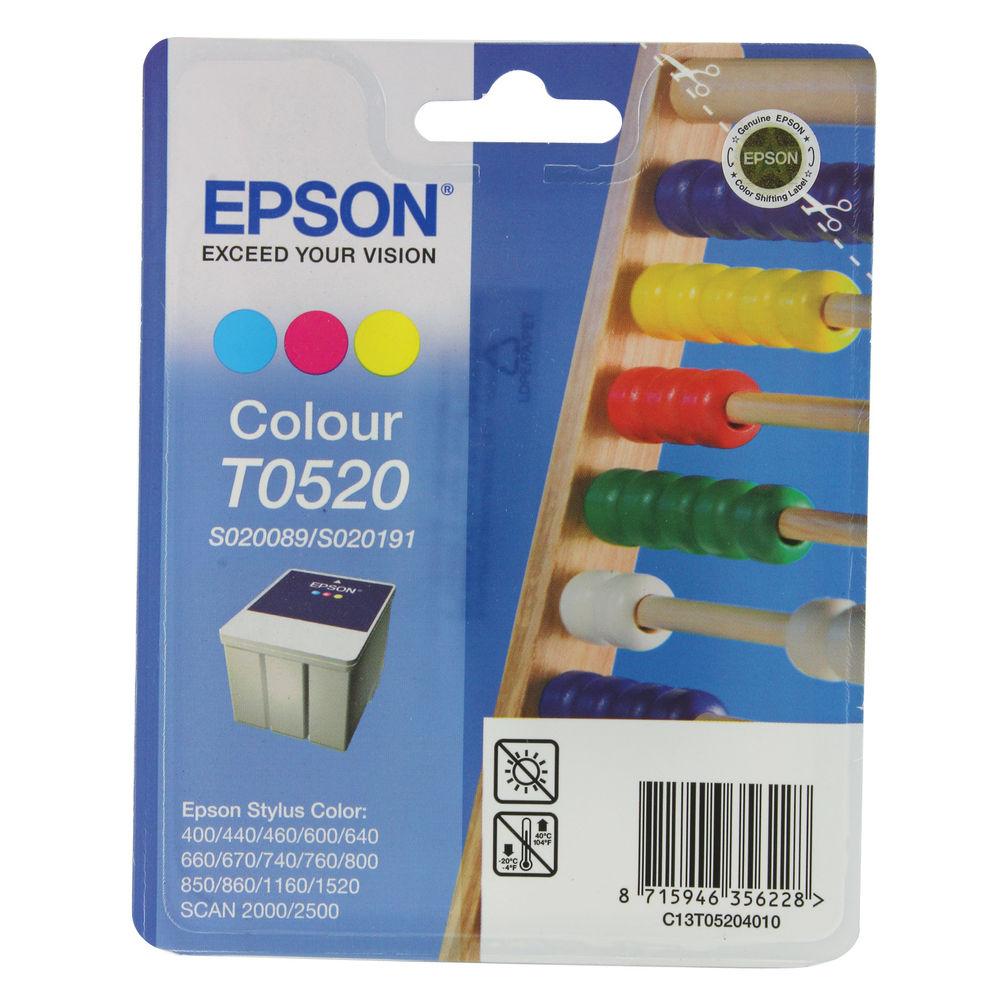 Epson T0520 Tri Colour Ink Cartridge - C13T05204010