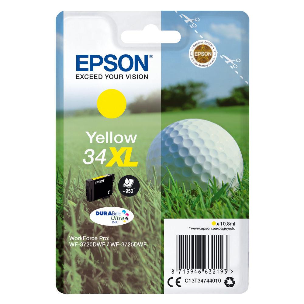 Epson 34XL Yellow Ink Cartridge - High Capacity C13T34744010