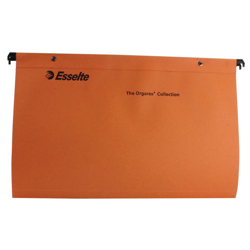 Esselte Orgarex Foolscap 15mm Orange Suspension Files, Pack of 50 - 10402