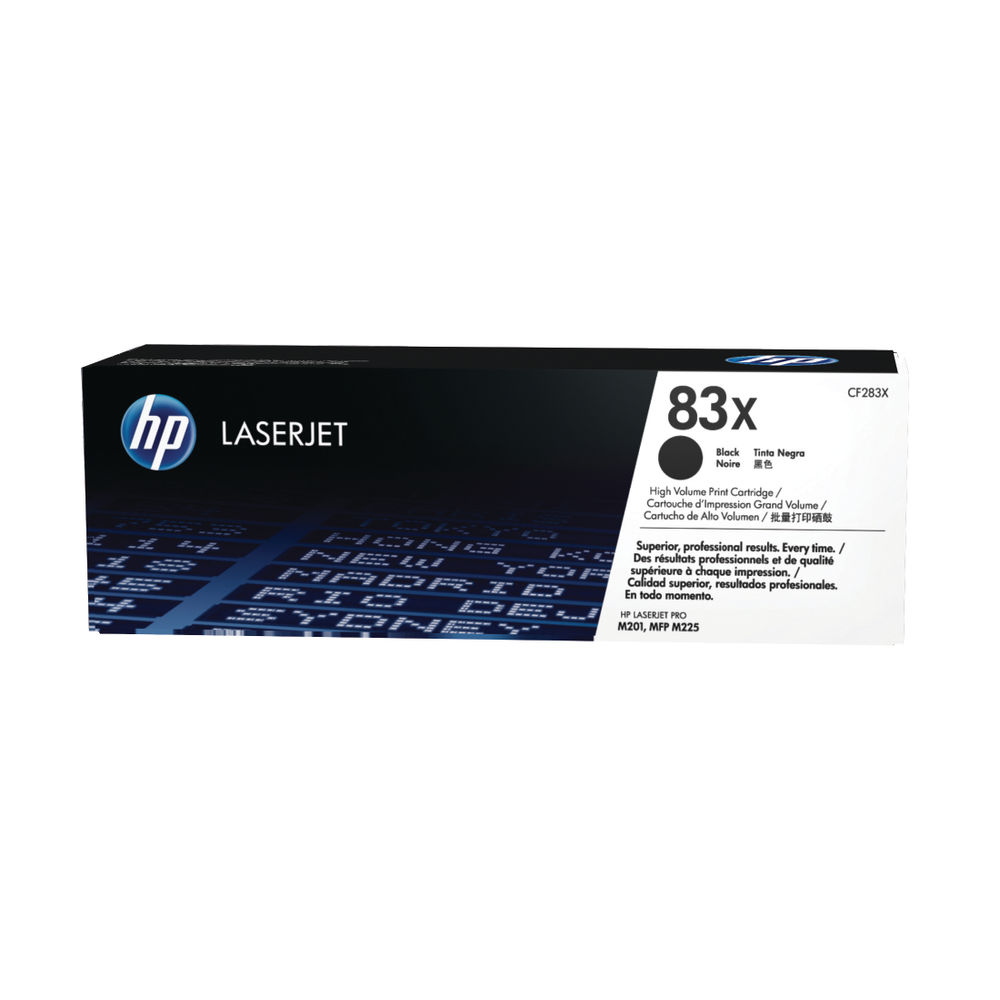 HP 83X High Yield Black Laserjet Toner Cartridge (Pack of 2) CF283XD