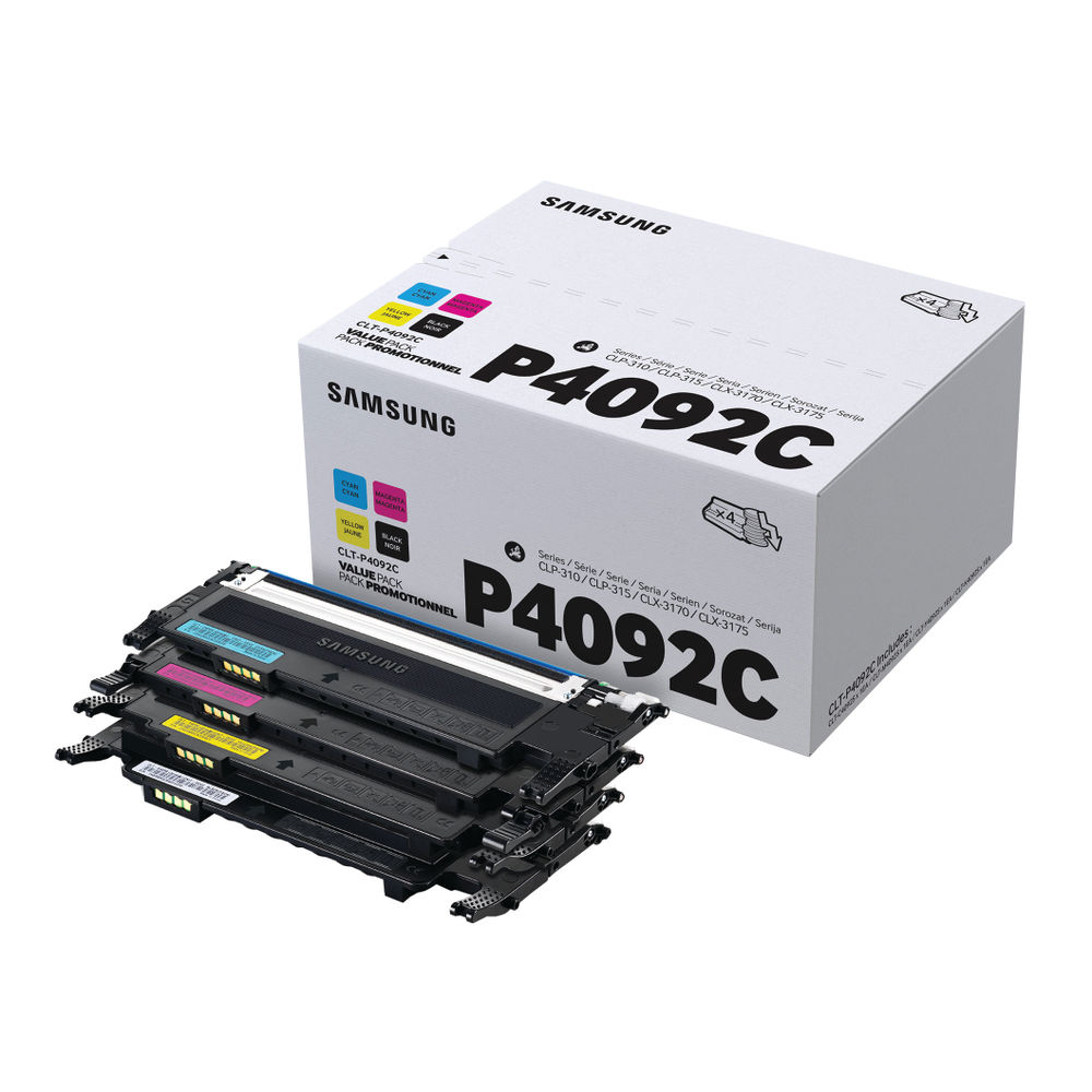 Samsung CLT-P4092C CYMK Toner Cartridges (Pack of 4) | SU392A