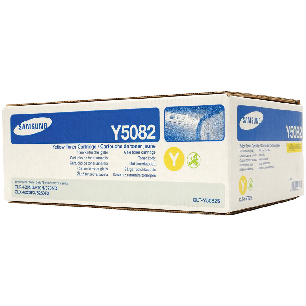 Samsung CLT-Y5082S Yellow Toner Cartridge - CLT-Y5082S/ELS