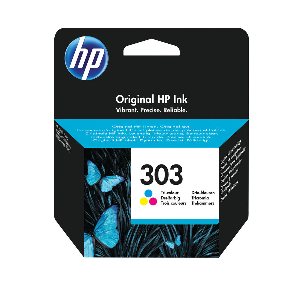HP 303 Tri-Colour Ink Cartridge | T6N01AE