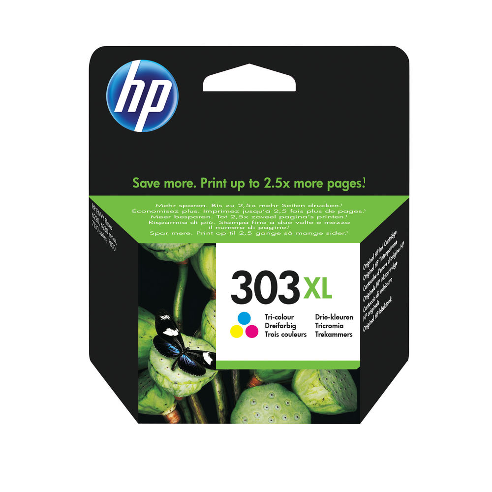 HP 303XL HY Tri Colour Ink Cartridge T6N03AE