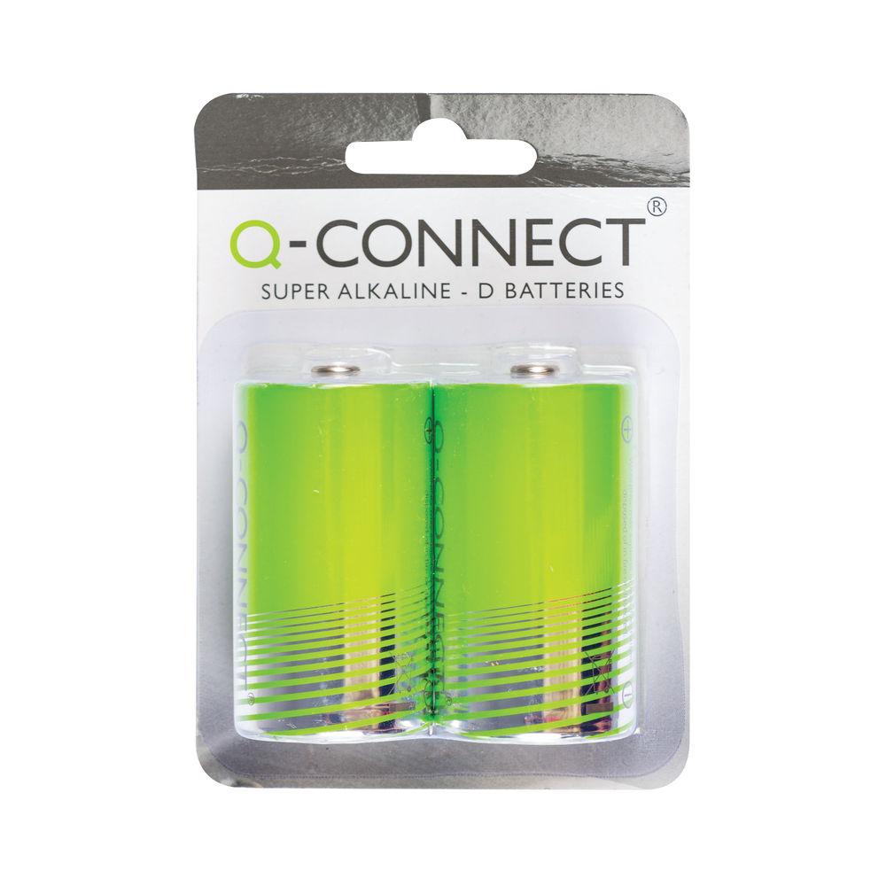 Q-Connect D Super Alkaline Batteries - KF00491