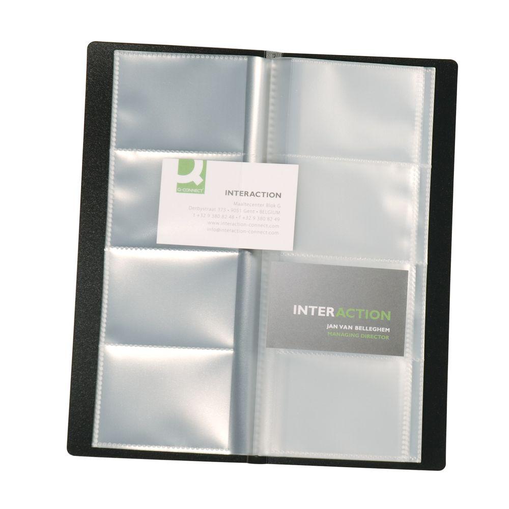 Q-Connect Black Business/Name Card Holder - KF03664
