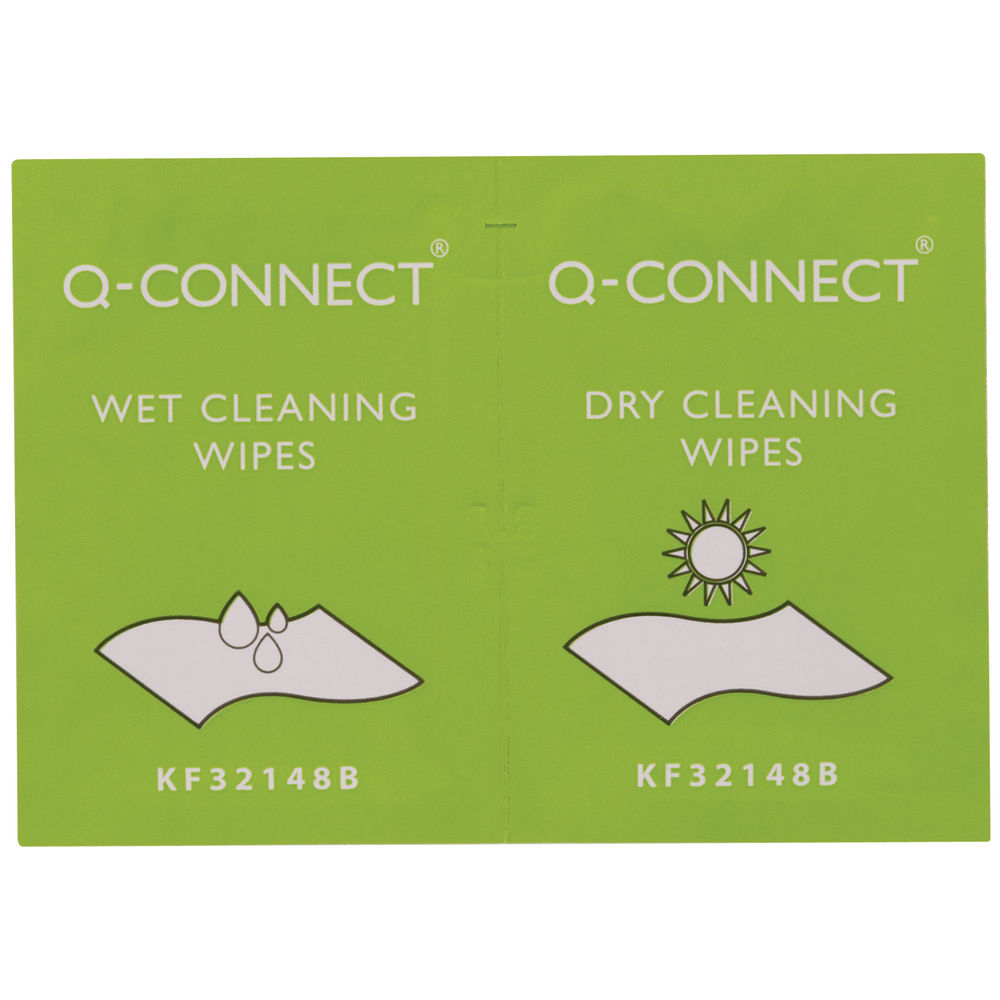 Q-Connect Wet and Dry Wipes, Pack of 20 - ST90432